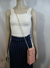 Coach F55636 North/South Phone Crossbody In Crossgrain Leather Pink Petal $198
