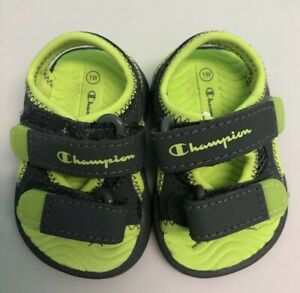 Champion Neon Green And Grey Infant Sz 1 Sandals