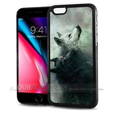 ( For iPhone 7 ) Back Case Cover AJ10964 Night Wolf