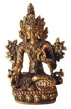 Mini Statue TARA Blanche laiton 3 x 5 cm