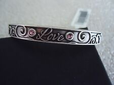 Alex and Ani LOVE CUFF Rafaelian Silver Finish Bangle New W/Tag Card & Box
