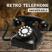 Black Vintage Retro Antique Phones Wired Cored Landline For Home Desk Decor