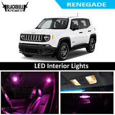 Pink LED Interior Lights Replacement Kit for 2015-2017 Jeep Renegade 11 bulbs