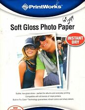 """PrintWorks Soft Gloss Photo Paper  30 Sheets 8.5 8.5"""" X 11"""" NEW"""