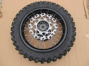 "Pit Bike dirt SDG COMPLETE REAR Wheel, sprocket, disc 12"" 12mm bearings"