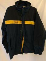 Columbia Mens Blue Yellow Jacket Size Medium Core Interchange Zip Front Bugaboo