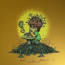 """Extremely Rare Marq Spusta NIBBLES 12"""" GOLD FOIL VARIANT Art Print Poster Birds"""