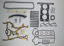 TIMING CHAIN KIT Testa Guarnizione Set Bulloni AGILA CORSA C 1.0 Z10XE 2000-04 Vauxhall