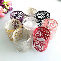 50Pcs Hollow Lampshade Heart Tea Light Candle Holders Home Party Table DecorFY
