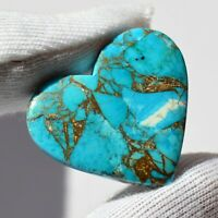 mm Code A2471 31x17 22.00 Cts Beautiful Designer Mohave Black Copper Turquoise Cabochon Gemstone Oval Shape Loose Gemstone