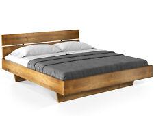 Wangenbett Massivholzbett Bett VINTAGE 120x200 mit Kopfteil CURBY THERMO-Fichte