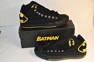Batman Converse All Star Hi Top Black Sneakers Size 11 Mens New in Box