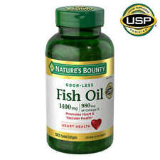 Nature's Bounty Fish Oil 1400 mg., 130 Coated Softgels New