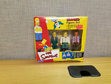 Playmates Toys The Simpsons Blocko Figure set, Mr. Burns, Smithers, Carl, New!