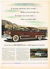 Vintage 1953 Magazine Ad DeSoto Parking's A Pleasure With Full Power Steering