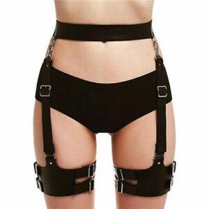 Leg Belt Pu Waist Strap Women Suspenders Thigh Garter Harness Sexy Black Gothic