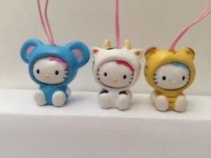 Hello Kitty Mouse Cow Tiger Chinese zodiac figure phone strap Japan New