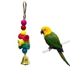 Pet Bird Parrot Parakeet Budgie Cockatiel Loofah Toy Wooden Chewing Hanging Toys