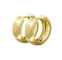 Paar 333 Gelbgold Klappcreolen Ohrringen 12,2 x 3,2mm Matt Rund 4739