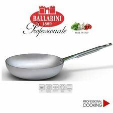 Ballarini 7002.24 Padella Svasata Alta in Alluminio Crudo, 24 cm, Grigio