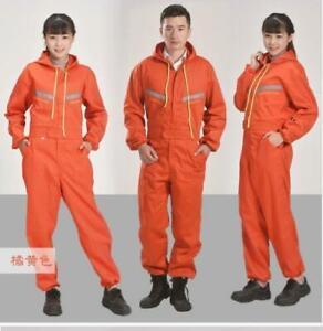 Men Women Coveralls Overalls Workwear Mechanic Jumpsuit Protective Reflective SZ