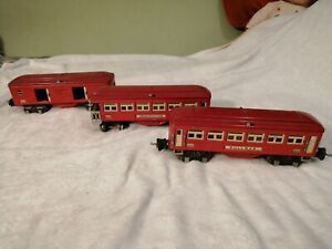 3 Lionel Pre War Passenger Cars For Restoration#602,2600 &2601