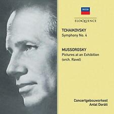 Antal Doráti - Tchaikovsky:Symphony No. 4; Mussorgsky: Pictures At An E (NEW CD)