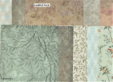 ASSORTED BACKING PAPERS 6 X 6 SAMPLE PACK VINTAGE NATURE 1 SHEET OF EACH DESIGN