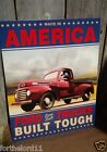 FORD TRUCKS BUILT TOUGH Tin Metal Sign Classic Wall Bar Garage Decor vintage