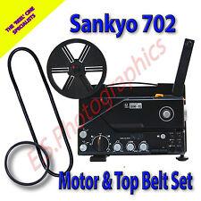 SANKYO 702 Sound 8mm CINE PROIETTORE Cinture Set di 2 (Motore Principale & pulegge superiore)