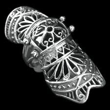 Rüstungs Gliederring Silber Gothic Schmuck - NEU