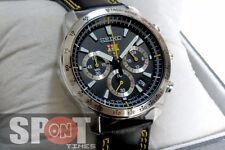 Seiko FCB Barcelona Chronograph Leather Strap Men's Watch SSB073P2