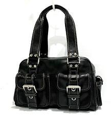 Vintage MICHAEL KORS Black Leather Shoulder Bag/Satchel.