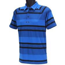 Oakley Aviator Polo Mens S Small Ozone Blue Black Golf Tailored Fit Tee Shirt