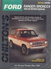 Chilton Repair Manual Repair Guide Ford Bronco 2, Ranger 2wd&4wd 1983-1990