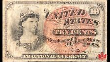 1863 United-States 10 Cents Fractional Currency - Fine - Fr#1261