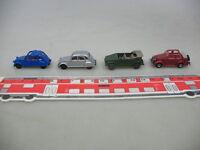 AE160-0,5# 4x Herpa/Wiking/Praline-Modelle H0: Ford-Eifel, VW, Citroen 2 CV 6