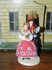 VINTAGE SOUVENIR HAND MADE DOLL WEDDING GROUP COUPLE POLAND POLISH