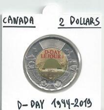 CANADA 2 DOLLARS BIMETAAL D-DAY 1944-2019 KLEUR UNCIRCULATED