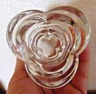 "SET OF 2 CLEAR GLASS VOTIVE CANDLE HOLDERS UNIQUE SHAPE 2 X 3"""