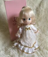 "Enesco Precious Moments Angel Doll Christmas Tree Topper 761893 9"""