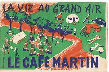 ancien buvard publicitaire café Martin scout vespa camping