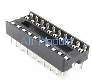 20PCS DIP 20pin IC Socket Adaptor Solder Type Socket Pitch Dual Wipe Contact UK