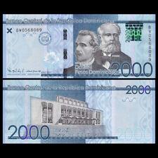 Dominican Republic 2000 Pesos, 2017/2019, P-New, New Security, UNC