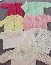 Large Baby Girls 0-6Month Knitted Handmade Cardigan Bundle
