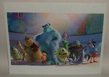 2003 Walt Disney Pixar MONSTERS INC litho print The Disney Store commemorative