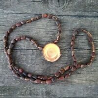 Original Siberian Ringing Cedar Necklace Russian Natural Wooden Pendant Megre