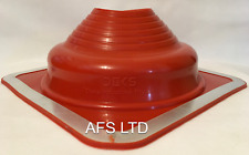 DEKTITE ROOF FLASHING 100-200MM PIPE FLUES / RED SILICONE / HIGH TEMPERATURE