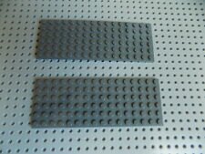 Lego 3027 Dark Blue Gray Plate 6 x 16 lot of 2 pieces
