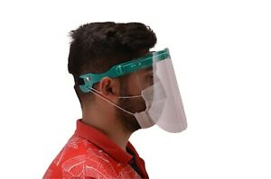 SAFETY FULL FACE SHIELD CLEAR FLIP-UP 3 VISOR TRANSPARENT MEDICAL DENTAL MASK